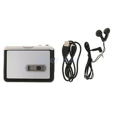 Radio-Tape Cassette Player Adapter Convertor USB White for iPod MP3 Music