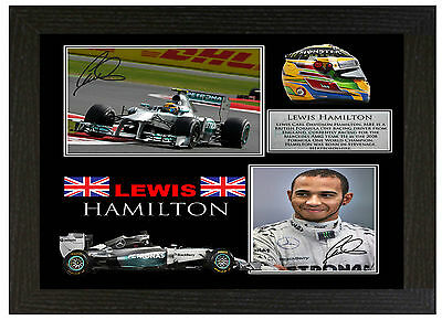 Lewis Hamilton  - A3 Signed Framed Collectors Display Picture