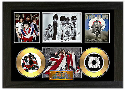 The Who / Roger Daltry - A3 Signed Framed Gold Vinyl Picture Cd Display Disc