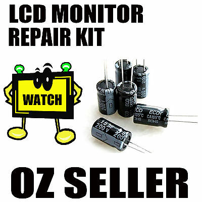 Capacitors Repair Kit LCD Monitor for ACER AL2016w with Solder desoldering AU
