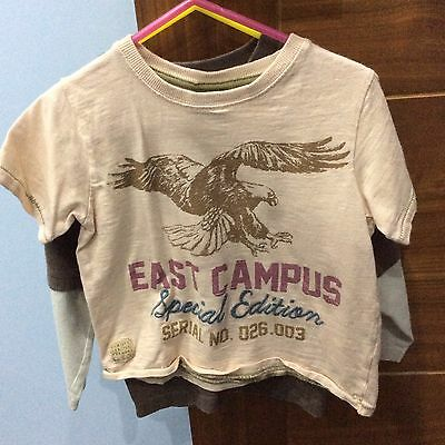 2 x NEXT Boys T-Shirt & Top Age 3Years Boys Bundle Of Tops For The Summer