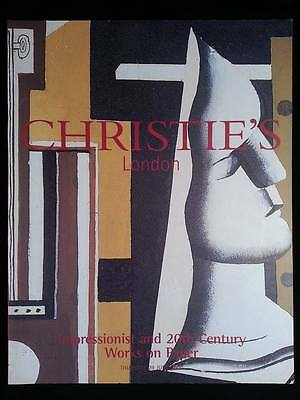 Impressionist and 20th Century Works - #6318 - CHRISTIE'S Auction Catalogue
