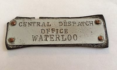 Railwayana Document Bag Label CENTRAL DESPATCH OFFICE WATERLOO