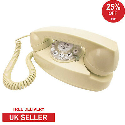 Wild & Wolf Princess Retro Phone - Cream - NEW