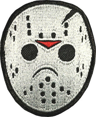Jason Voorhees Hockey Mask Embroidered Patch Horror Movie Badge Friday the 13th