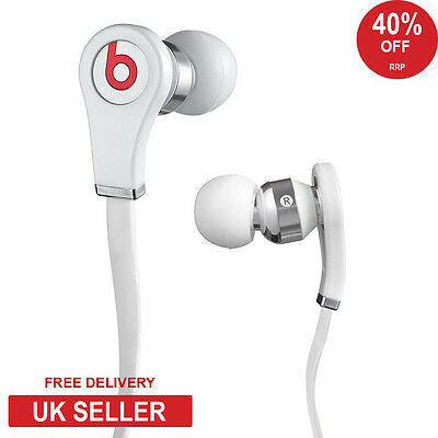 GENUINE Beats by Dr Dre Tour High Definition In-Ear Headphones with Mic White