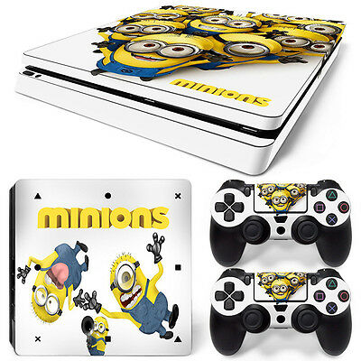 Playstation 4 PS4 Slim Skin Vinyl Design Folie Aufkleber Schutz Sticker MINIONS