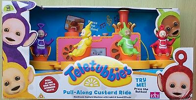 Teletubbies Pull-Along Custard Train Light And Sound Effects Play Set