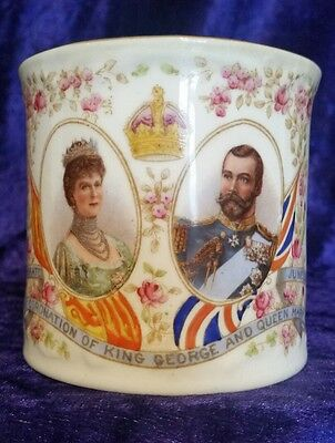 Antique Aynsley England Coronation of King George & Queen Mary Cup 1911 RARE