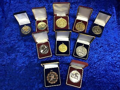 Set of 10 Assorted Football Medals Man of Match Tournament Stag Do Set 2