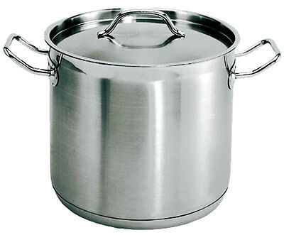 Update SPS-8 8 Quart Stainless Steel Stock Pot w/ Lid NSF