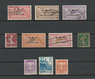 10 Timbres Syrie Obliteres & Neufs* De 1920-1946-1954