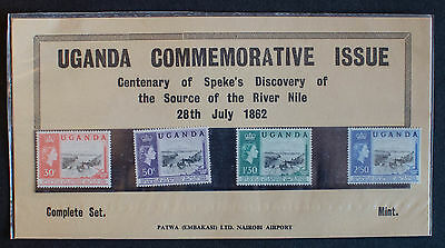 UGANDA SG95/8 1962 DISCOVERY OF SOURCE OF THE NILE MNH Sealed Pack