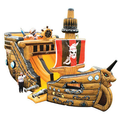 Massive Inflatable Pirate Ship - Awesome Quality by Inflatable Depot - 3 yr Wty.