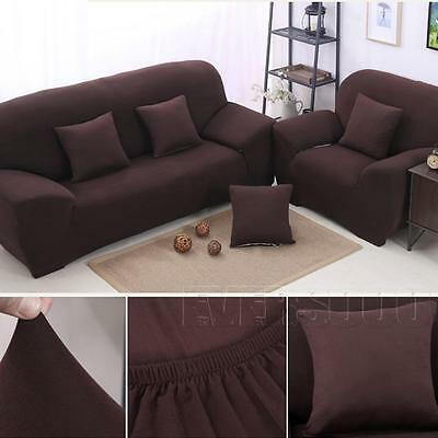UK Sofa Couch Slip Over Easy Fit Covers Elastic Fabric Stretch Settee Protector
