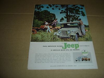 1959 Vintage Portuguese Advertising JEEP WILLYS original print ad