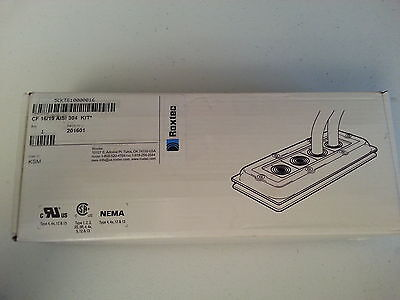 New In Box Roxtec 5Ckt810000016 Electrical 19 Wire Stainless Wall Fitting