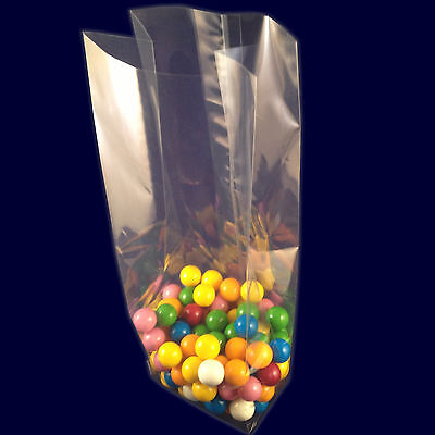 Clear Plastic Cello Bags - Cellophane Side Gusset Sweet Bag Candy Party Food