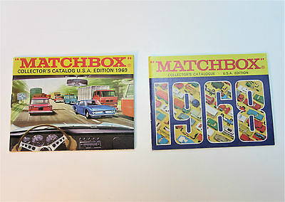 1968 & 1969 USA Edition Matchbox Catalogs - Mint New Old Store Stock