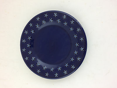 Longaberger Pottery Bread Plate All American Star Blue