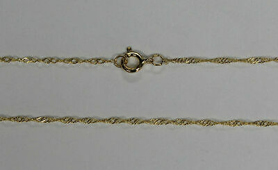 "14k 14kt Yellow Solid Gold .7mm Singapore Necklace Chain W/ Spring Ring 16"" 18"""