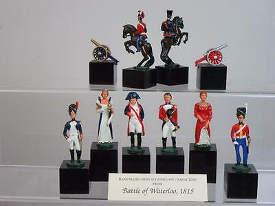 """Vintage 1983 Large """"battle Of Waterloo"""" Chessmen Set By S.a.c.made In  England"""