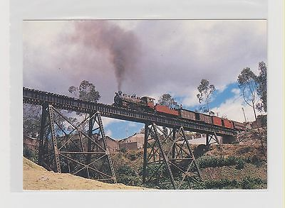 +EQUADOR     -    Guayaquil and Quito Railway mixed train on the Alausi Viaduct