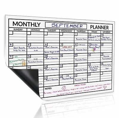 Monthly Magnetic Dry Erase Board Calendar Whiteboard For Refrigerator 11x17