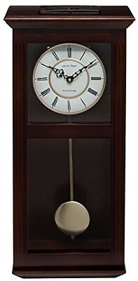 Classic Pendulum Wall Clock Wood Westminster Chimes Vintage Antique Style