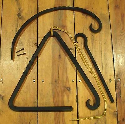 Large Triangle Dinner Bell with a Twist & hanger PCBS