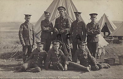 Soldier group 2nd Volunteer Battalion Hampshire Regiment Windmill Hill Camp 1908