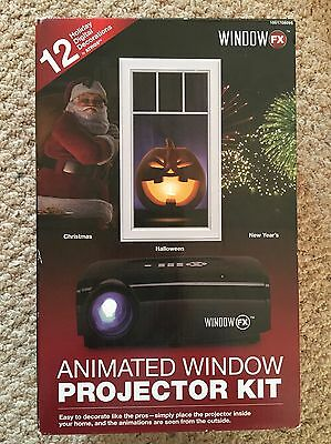 New Animated Window Projector Kit 12 Holiday Digital Decorations Christmas FX