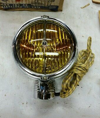 NOS 1940's 1950's Nor Jay yellow sealed beam fog driving light no. 72