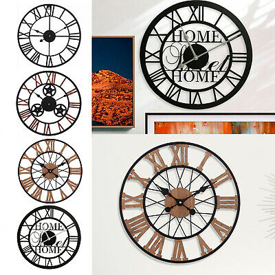 Antique Wall Clock Roman Numerals Medium Large Size Surface Luxury Big Art Clock