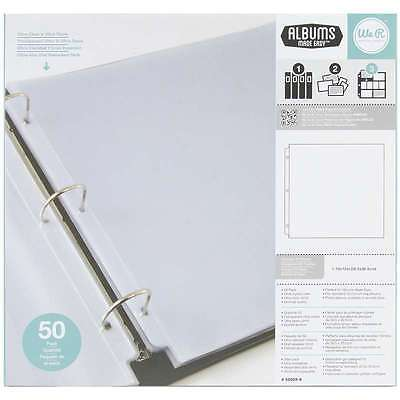 We R Ring Photo Sleeves 12 Inch X 12 Inch 50/Pkg-Full Page 633356601494