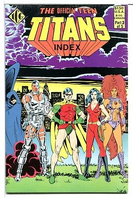 Independent Comics Official Teen Titans Index #3! 1985! VF! Very Fine!