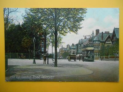 Tram Hill Top London Road LEICESTER Leicestershire *Vintage* 1906