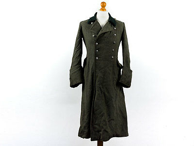 WWII German Army Other Ranks Greatcoat with Dark Green Collar