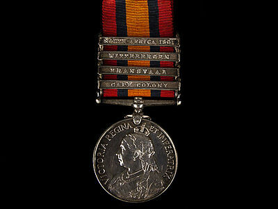 1899 Queens South Africa 4 Bar Medal to Wiltshire Regiment