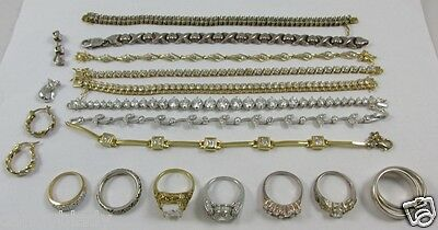 Sterling Silver Jewelry 142.0 Grams Lot - All Usable Bracelets, Rings, Earrings