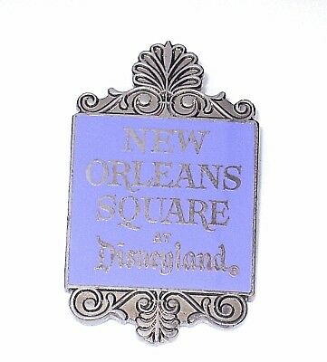 Retired LE Disney Pin✿New Orleans Square Logo Marquee Sign Disneyland Scroll HTF