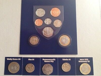 Royal Mint 2014 Annual Coin Collection All In Good  Circulated Condition