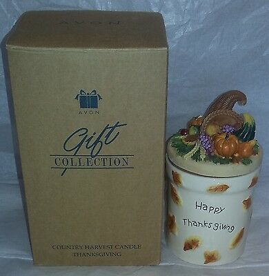 Country Harvest Candle- Thanksgiving- By Avon- New In Box