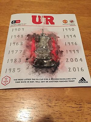 Man United v Reading 3rd Round FA CUP Matchday programme 07-01-17