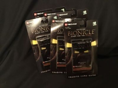 Upper Deck - LEGO Bionicle Trading Cards x 6 Packs (54 cards) 1st Ed (G13)