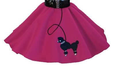Hot Pink 50's POODLE SKIRT for BABY 6-9-12-18 months