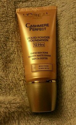Loreal cashmere perfect liquid powder foundation New & sealed 25ml