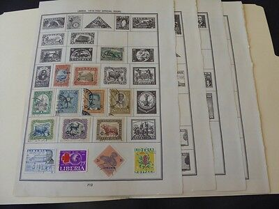 Liberia 1885-1950's Stamp Collection Mint/Used Stamps on Album Pages