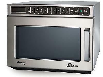 Amana HDC12A2 C-Max 0.6 CuFt Commercial Microwave Oven Stainless 1200w