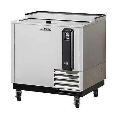 "36"" Bottle Cooler Stainless Exterior with 1 Sliding Door TBC-36SD"
